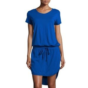 W by Wilt waist tie shirt tail dress MED Blue 134